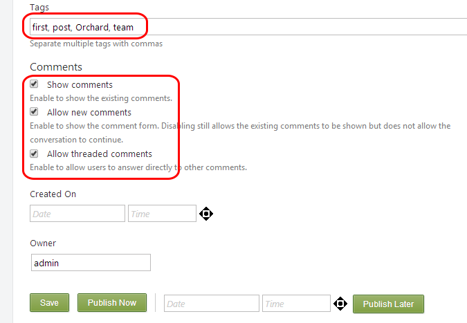 Adding a Blog to Your Site - Orchard Documentation