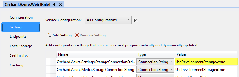 Using Windows Azure Blob Storage - Orchard Documentation