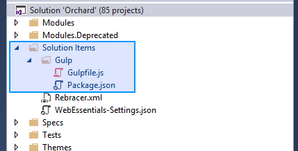Processing client side assets - Orchard Documentation