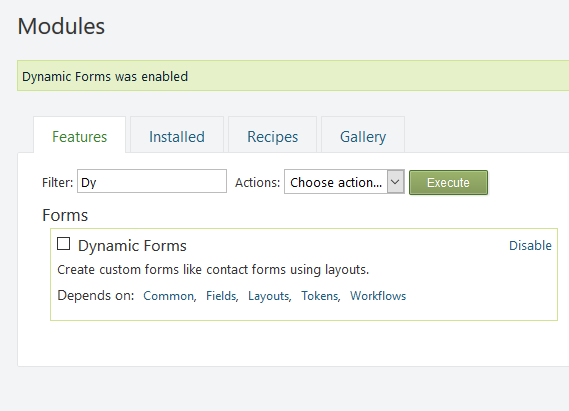 Enabling Dynamic Forms in Orchard CMS