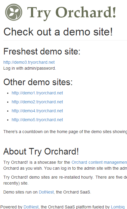 Try Orchard